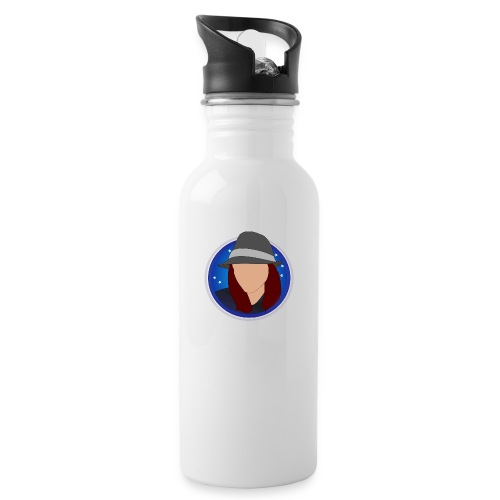 discoblue - Water bottle with straw