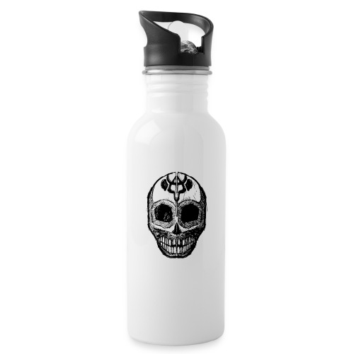 Skull of Discovery - Water bottle with straw