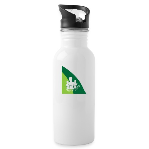 Logo - Water bottle with straw