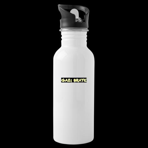 GAZI BRATE YT - Trinkflasche mit integriertem Trinkhalm