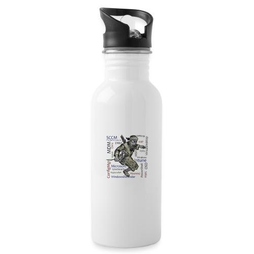 WPNinja Big Flash - Trinkflasche mit integriertem Trinkhalm