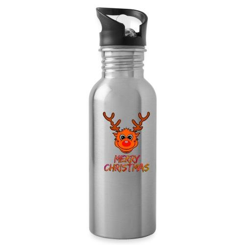 Rudolph - Trinkflasche mit integriertem Trinkhalm