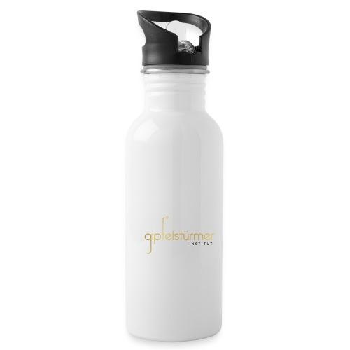 Firmenlogo - Trinkflasche mit integriertem Trinkhalm
