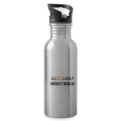 Reiseziel? Südafrika! - Trinkflasche mit integriertem Trinkhalm
