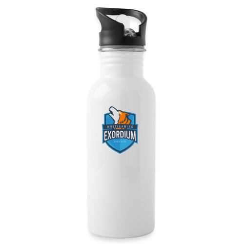 Emc. - Trinkflasche mit integriertem Trinkhalm