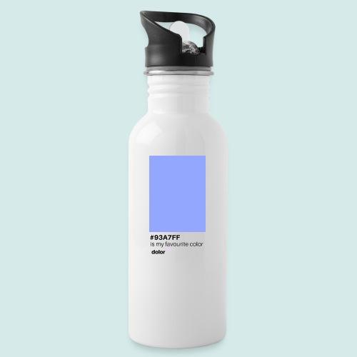 #93A7FF - Trinkflasche mit integriertem Trinkhalm
