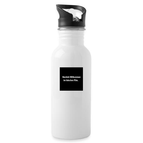 Willkommen im Falschen Film - Trinkflasche mit integriertem Trinkhalm