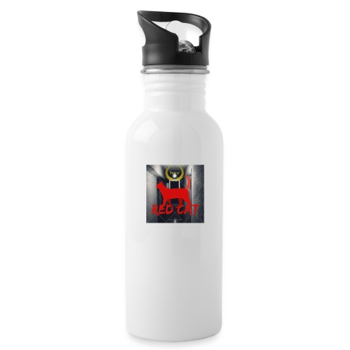 Red Cat (Deluxe) - Water bottle with straw