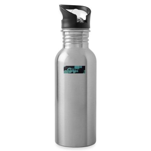 Extinct box logo - Water bottle with straw