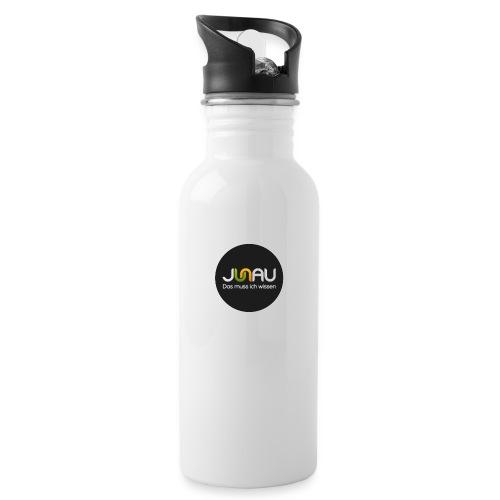 JUNAU - Das muss ich Wissen (rund) - Trinkflasche mit integriertem Trinkhalm