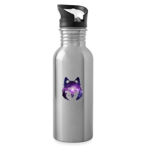 Galaxy wolf - Gourde avec paille intégrée