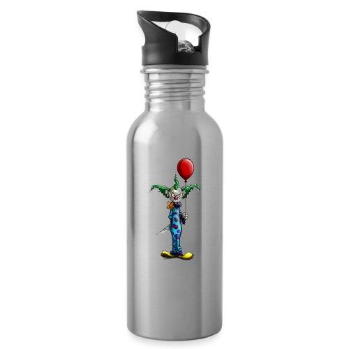klaun tee - Vattenflaska med integrerat sugrör