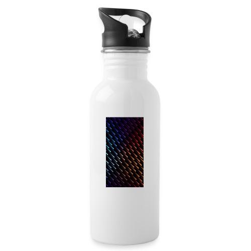 LIGHTNINGRAIN - Trinkflasche mit integriertem Trinkhalm