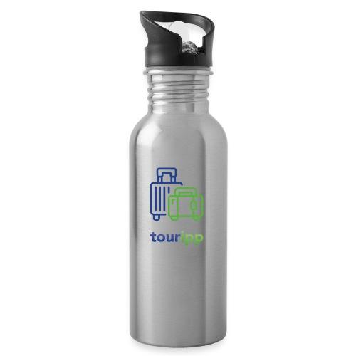 Logo con valigie - Borraccia con cannuccia integrata