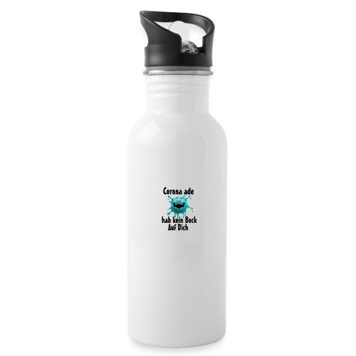 Kein Bock - Trinkflasche mit integriertem Trinkhalm