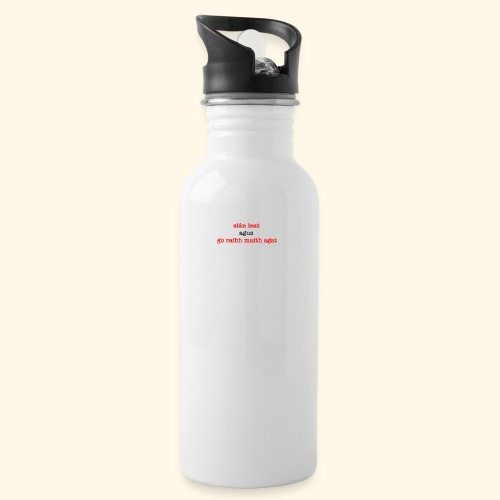 Good bye and thank you - Water bottle with straw