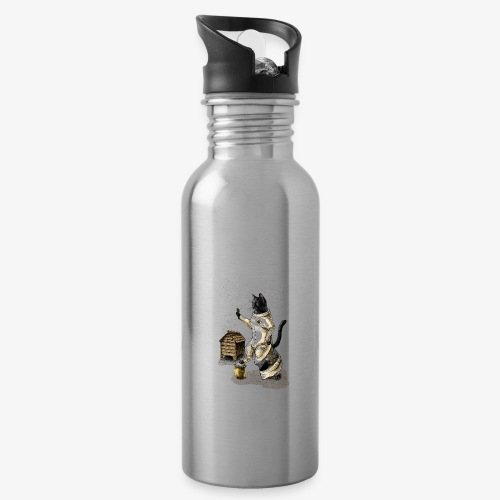 Cat Beekeeper - Water bottle with straw