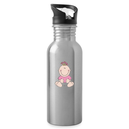 rompertje meisje - Drinkfles met geïntegreerd rietje