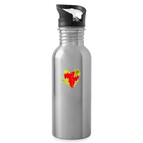 peeled heart (I saw) - Water bottle with straw