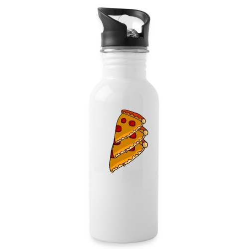 pizza - Drikkeflaske med integreret sugerør