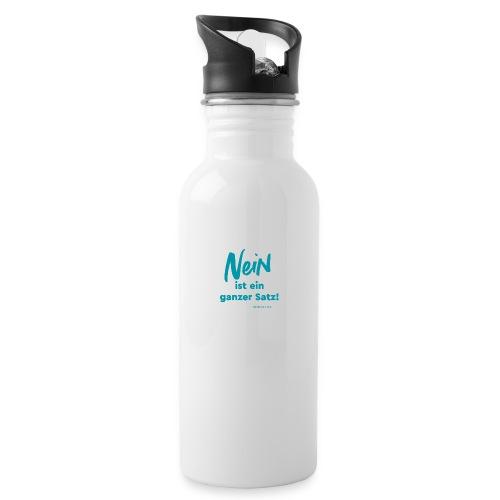 Nein ist ein ganzer Satz! - Trinkflasche mit integriertem Trinkhalm