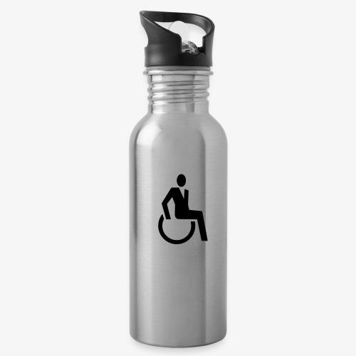 Sjieke rolstoel gebruiker symbool - Drinkfles met geïntegreerd rietje