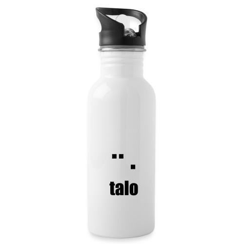 talologoEPS valkomusta - Juomapullo, jossa pilli