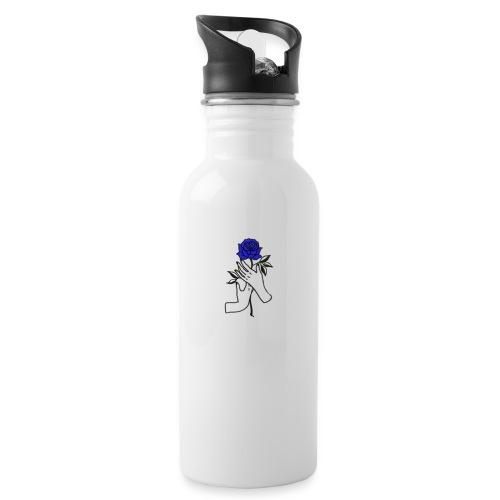 Fiore blu - Borraccia con cannuccia integrata