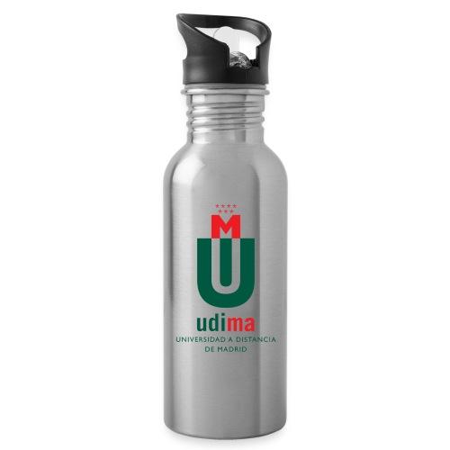 logoudimavertical - Botella cantimplora con pajita integrada