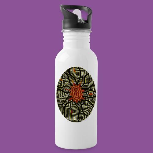 Aura 11 - Trinkflasche mit integriertem Trinkhalm