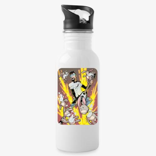 Leo Rock Bunny - Drikkeflaske med integrert sugerør