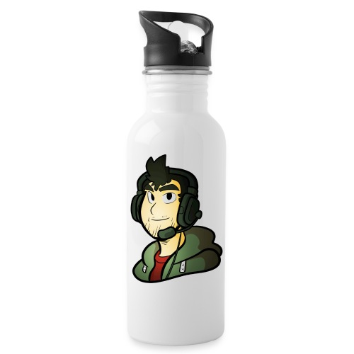 Gamer / Caster - Water bottle with straw