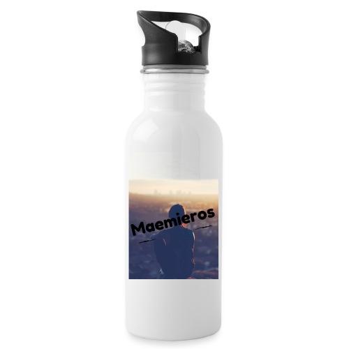 garciavlogs - Botella cantimplora con pajita integrada