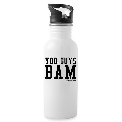 BAM! - Trinkflasche mit integriertem Trinkhalm