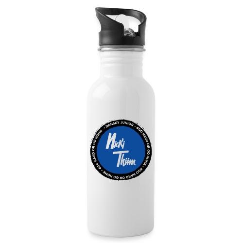 Classic Logo - Trinkflasche mit integriertem Trinkhalm