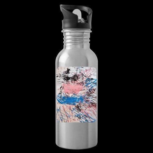 Emelie Kunstwerk V. - Trinkflasche mit integriertem Trinkhalm