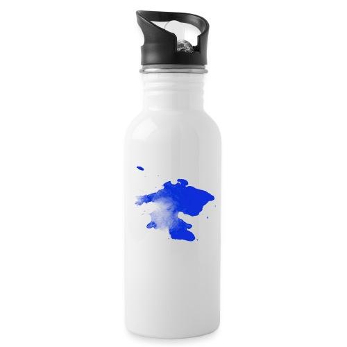 ink splatter - Water bottle with straw
