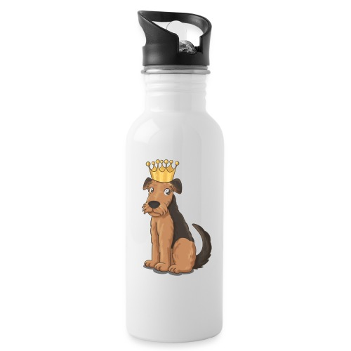 The KING of Terriers - Water bottle with straw