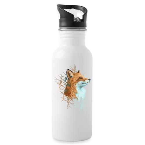 Happy the Fox - Trinkflasche mit integriertem Trinkhalm