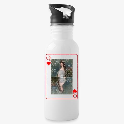 Kaiserin Sissi spielkarte Österreich - Trinkflasche mit integriertem Trinkhalm