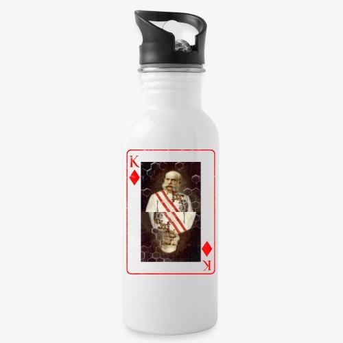 Kaiser Franz von Österreich spielkarte - Trinkflasche mit integriertem Trinkhalm