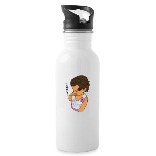 La Baby tiene hamabre - Botella cantimplora con pajita integrada
