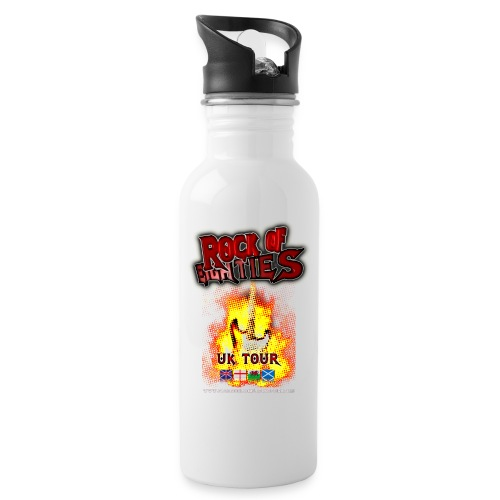 r80s tour T graphic png - Water bottle with straw