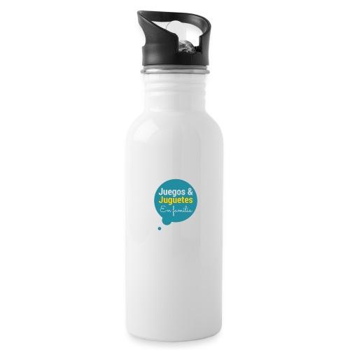 Logo Juegos y Juguetes en Familia - Botella cantimplora con pajita integrada