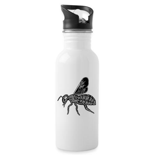 Skelett Biene - Drinkfles met geïntegreerd rietje