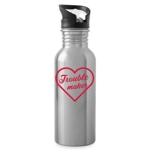 Trouble Maker - Trinkflasche mit integriertem Trinkhalm