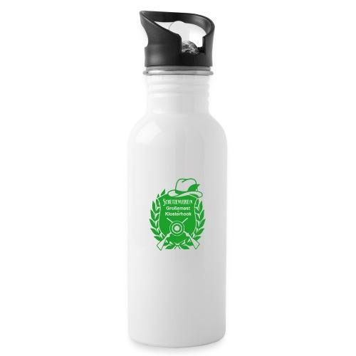 Schützenverein Großemast Klosterhook - Trinkflasche mit integriertem Trinkhalm