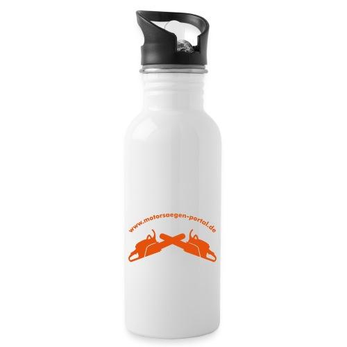 Shirt back 01 - Trinkflasche mit integriertem Trinkhalm