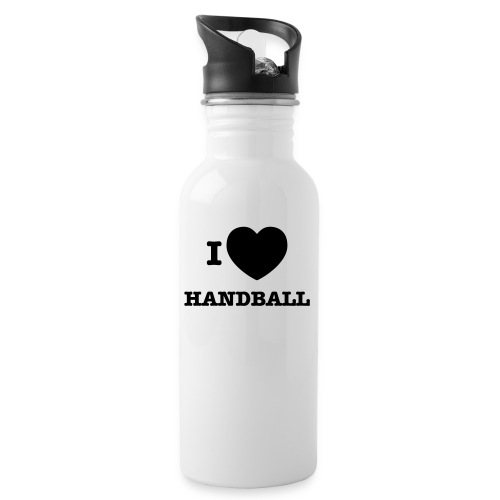 i love handball - Water bottle with straw