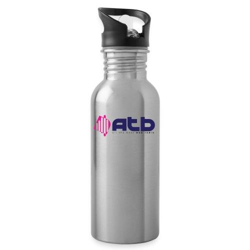 radio logo 2 - Water bottle with straw